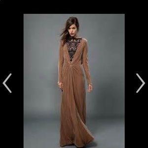 Never worn Tadashi Shoji Gown XS Velvet with train